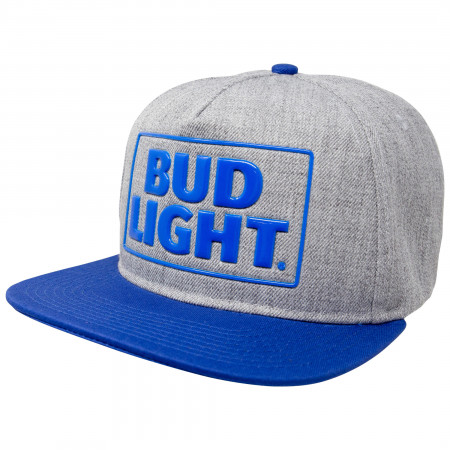 Bud Light Blue And Grey Adjustable Snapback Hat