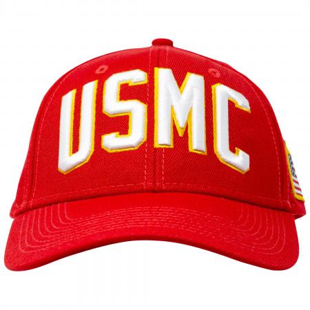 USMC Adjustable Red Snapback Hat