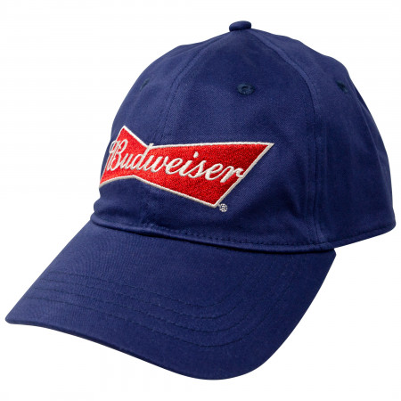 Budweiser Beer Bowtie Logo Adjustable Strapback Hat