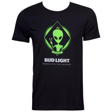 Bud Light Alien Men's Black T-Shirt