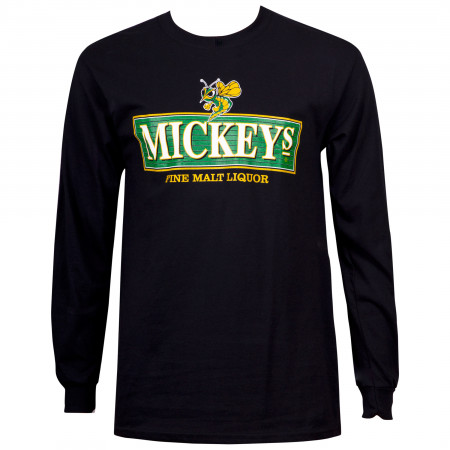 Mickey's Fine Malt Liquor Black Long Sleeve Shirt