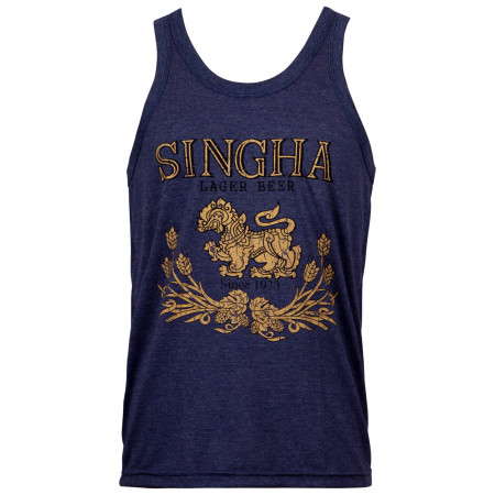 Singha Lager Beer Men's Blue Tank Top