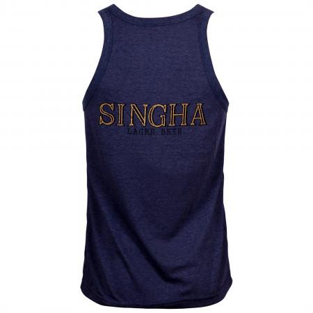 Singha Lager Beer Men's Blue Tank Top
