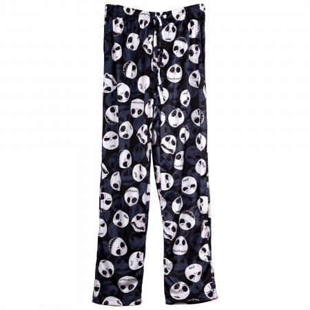 Nightmare Before Christmas Jack Faces Fleece Sleep Pants