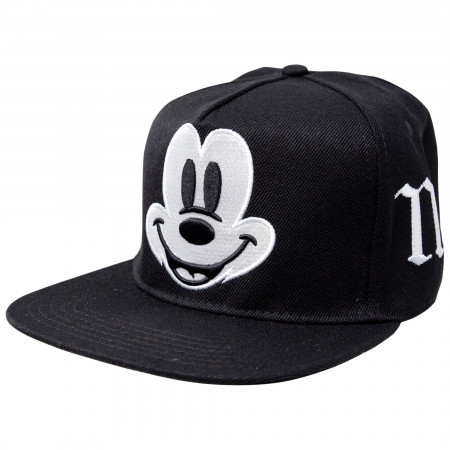 Mickey Mouse Big Face Adjustable Black Snapback Hat