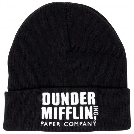 The Office Dunder Mifflin Black Wool Beanie