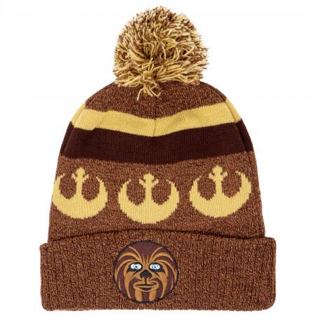 Star Wars Chewbacca Intarsia Cuff Pom Beanie