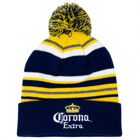 Corona Beer Yellow And Black Winter Pom Beanie