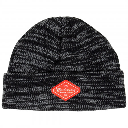 Budweiser Beer Black And Grey Woven Beanie