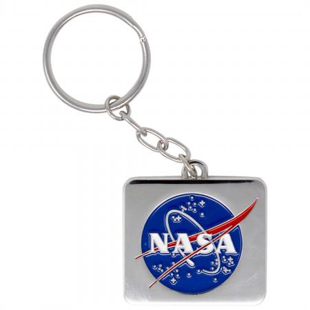 NASA Logo Silver Keychain