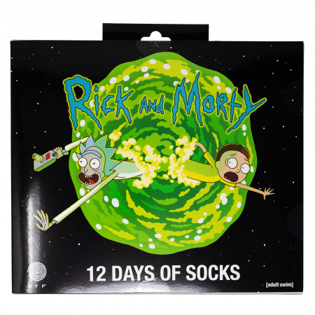 Rick and Morty 12-Pair Pack of Socks Gift Giving Box