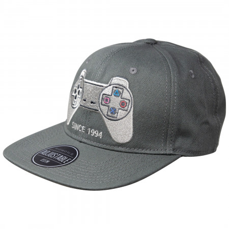 PlayStation Since 1994 Adjustable Grey Snapback Hat