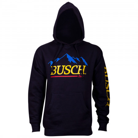 Busch Beer Mountain Logo Men's Blue Hoodie