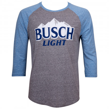 Busch Light Blue and Grey Raglan T-Shirt