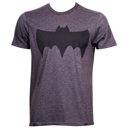 Batman Retro Symbol Grey T-Shirt