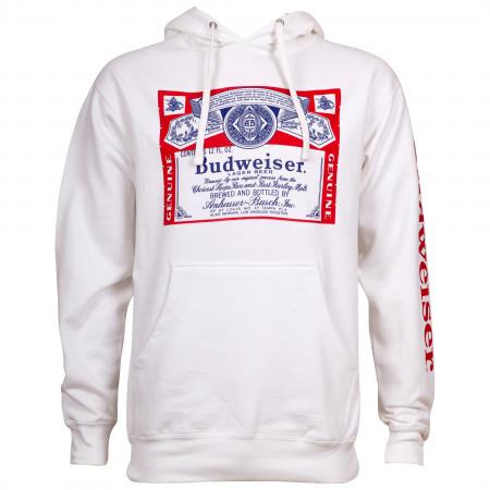 Budweiser Beer Men's White Hoodie