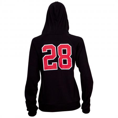 Mickey 28 Black Fitted Juniors Hoodie