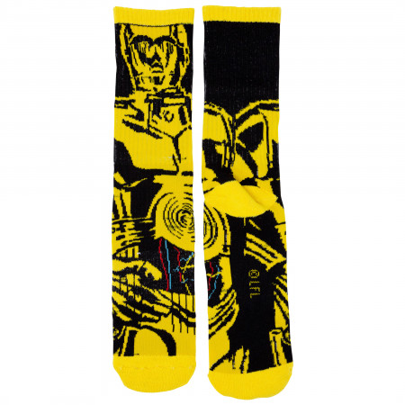 Star Wars R2-D2 and C-3PO Character Socks 2-Pair Pack