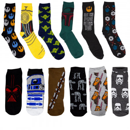 Star Wars Socks 12-Pack Gift Giving Box