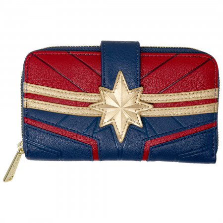 Captain Marvel Costume Faux Leather Wallet