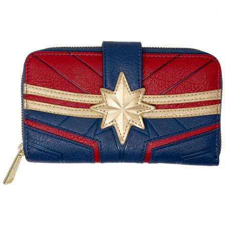 Captain Marvel Costume Faux Leather Wallet