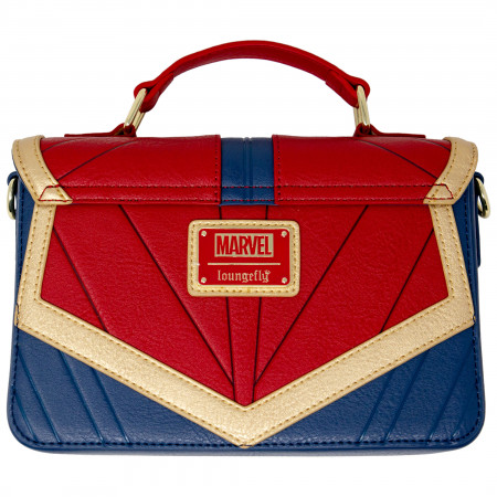 Captain Marvel Costume Faux Leather Crossbody Purse