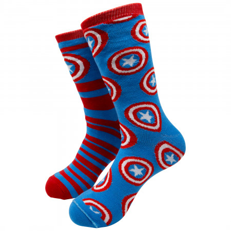 Marvel Captain America Reversible Men's Crew Socks