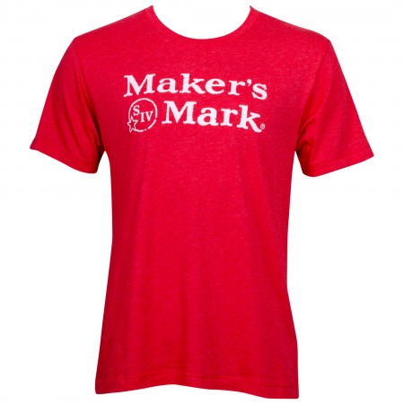 Maker's Mark Men's Red Eco Friendly T-Shirt