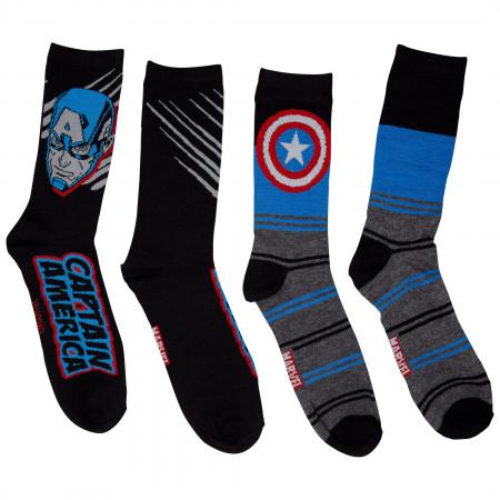 Captain America Shielded 2-Pack Crew Socks