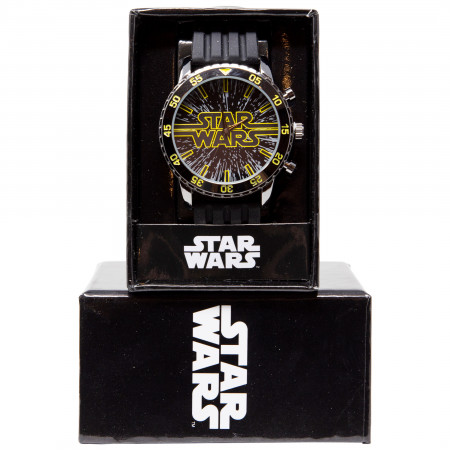 Star Wars Title Card Logo Classic Watch With Rubber Band