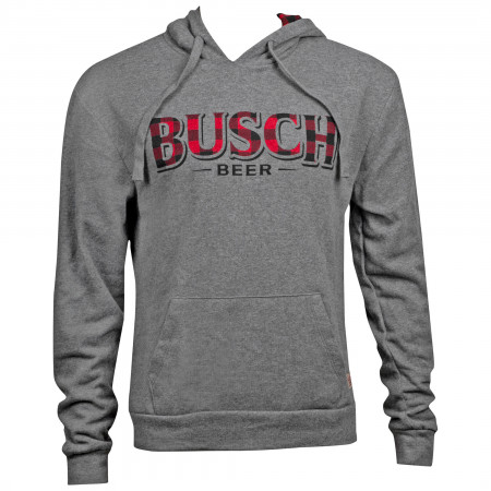 Busch Men's Grey Flannel Logo Hoodie