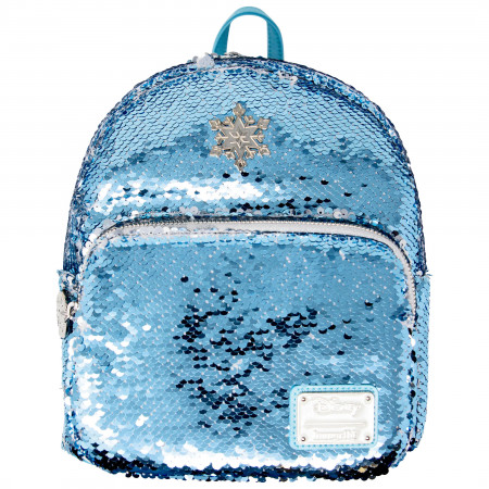 Frozen Reverse Sequin Blue and White Backpack