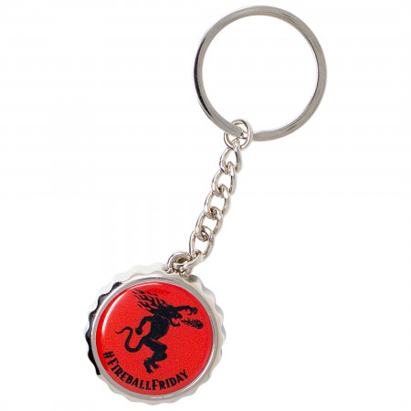 Fireball Whisky Friday Keychain