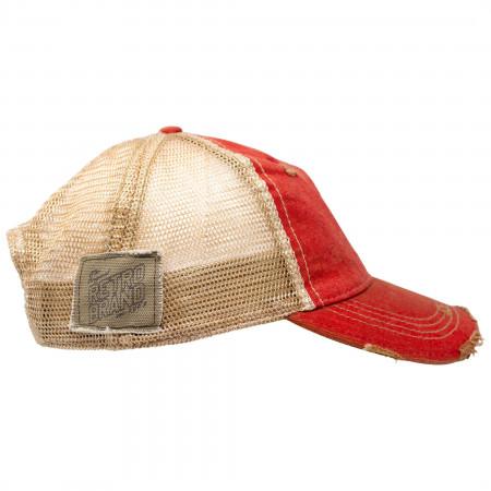 Pabst Blue Ribbon PBR Orange Trucker Hat