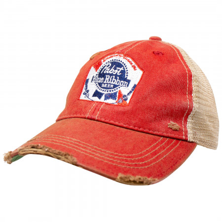 Pabst Blue Ribbon PBR Orange Trucker Hat