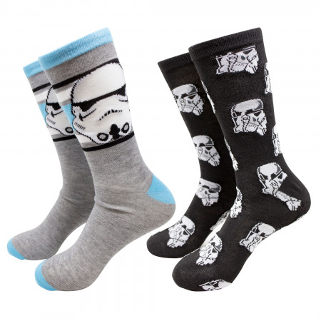 Star Wars Stormtroopers Heather Crew Socks 2-Pack