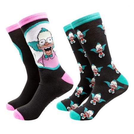 The Simpsons Krusty The Klown 2-Pack Crew Socks