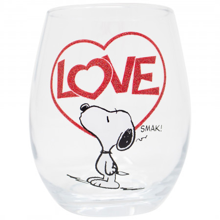 Snoopy Love 20 OZ Stemless Wine Glass