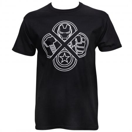 Avengers Logos Tshirt