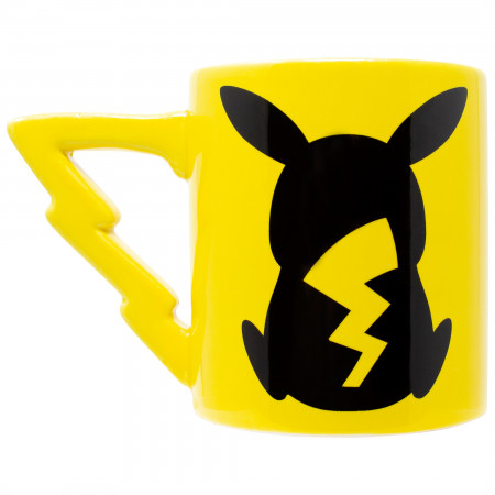 Pokemon Pikachu Sculpted Tail Handle 20 Ounce Ceramic Mug
