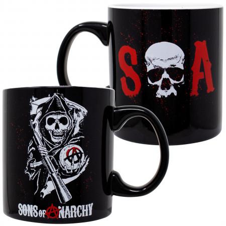 Sons Of Anarchy 20 Ounce Black Ceramic Mug