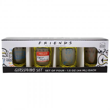 Friends 4-Piece Shot Glass Set