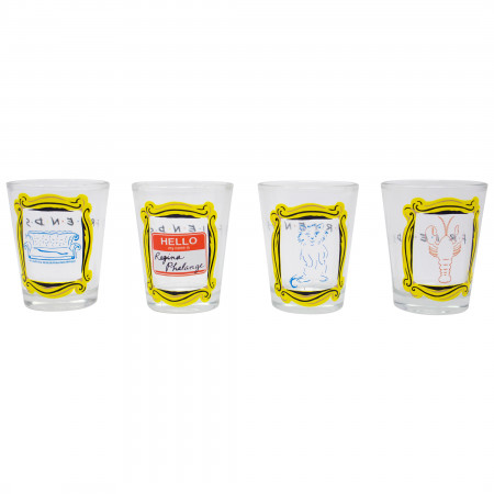 Friends 4-Piece Shot Glass Set