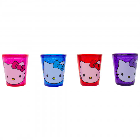 Hello Kitty Freeze Gel 4-Piece Shot Glass Set