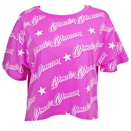 Wonder Woman Logo Step Hem Women's T-Shirt