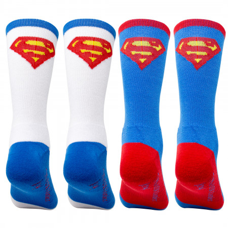 Superman 2-Pack Athletic Kids Socks