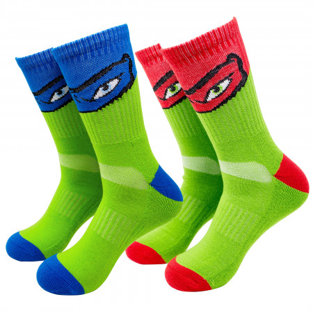 Teenage Mutant Ninja Turtles 2-Pack Athletic Kids Socks