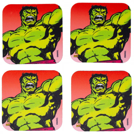 Marvel Incredible Hulk 4-Piece Neoprene Coaster Set