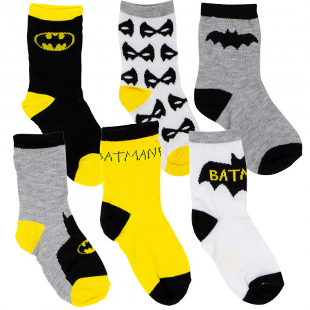 Batman 6-Pack Toddler Socks