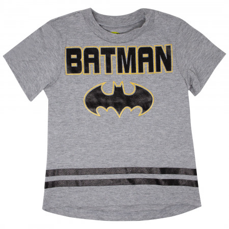 Batman Symbol Kids Shirt and All Over Print Shorts Boys Set